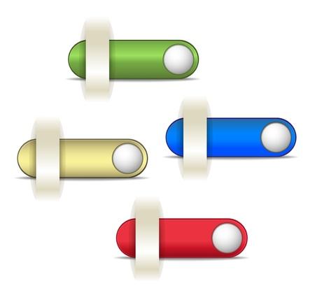 web button color Stock fotó - 14930090