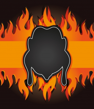 Raster schoolbord grill menukaart kip brand boord Stockfoto - 15354746