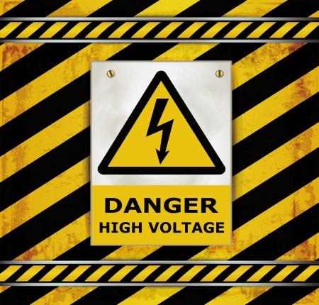 spannung: Registrieren Vorsicht Tafel Gefahr hoher Spannung