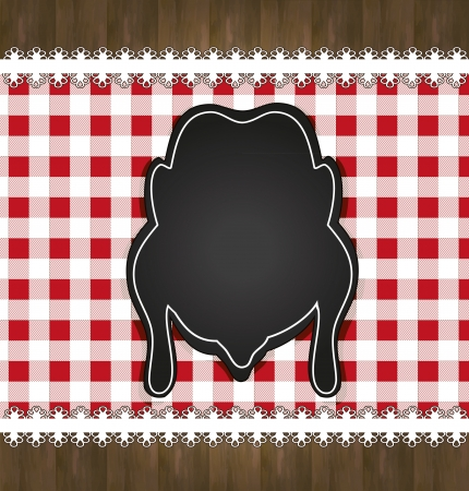raster blackboard menu tablecloth lace chicken Stock Photo - 16590069