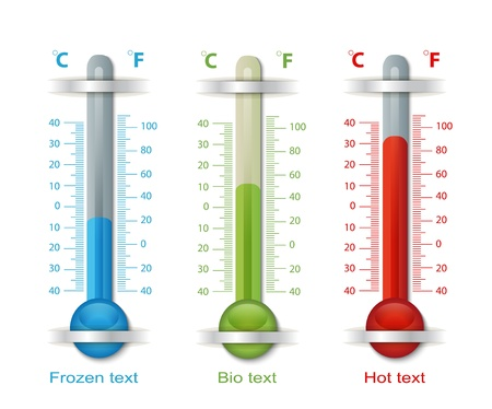 Thermometer Blue Red Green Stock Vector - 18359673