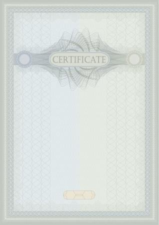 raster Certificate guilloche blue green vertical A4 photo