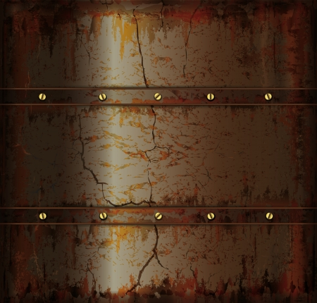 cat call: background metal rusty cuprum texture