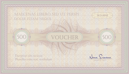 wavelet: voucher pink green guillotine certificate