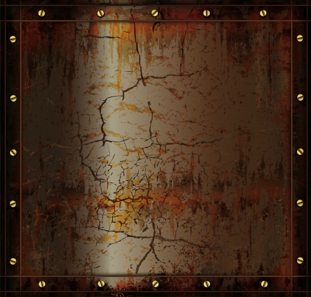 blackboard metal rusty cuprum texture Vector