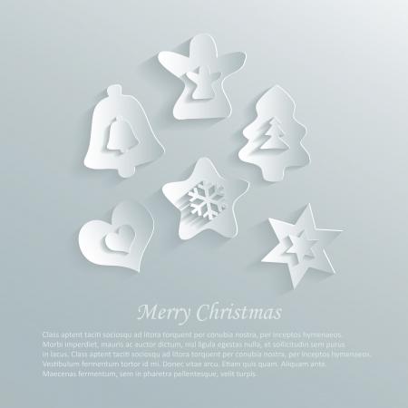 christmas gingerbread paper 3d sky Vector