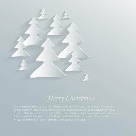 adornment: christmas tree paper 3d sky Illustration