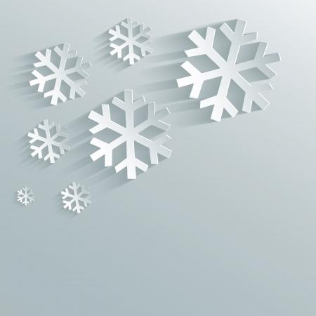 winter wish: raster christmas snowflake paper 3d sky Stock Photo