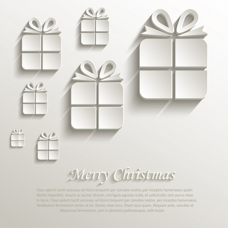 overlapping: christmas gift natural paper 3D Illustration