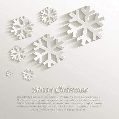 Kerstmissneeuwvlok natuurlijke papier 3D