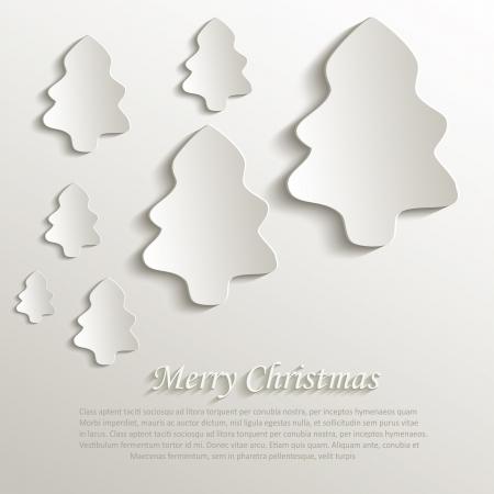 papier naturel: arbre de No�l naturel 3D de papier