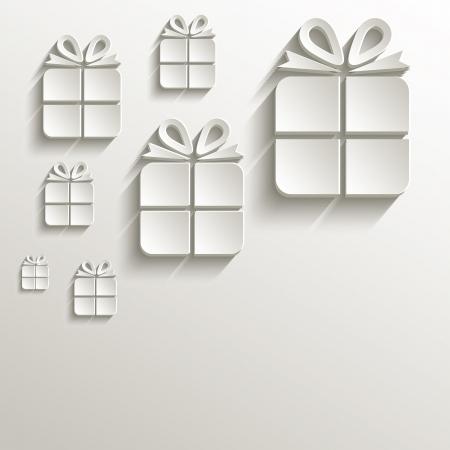 papier naturel: cadeau de No�l naturel 3D de papier