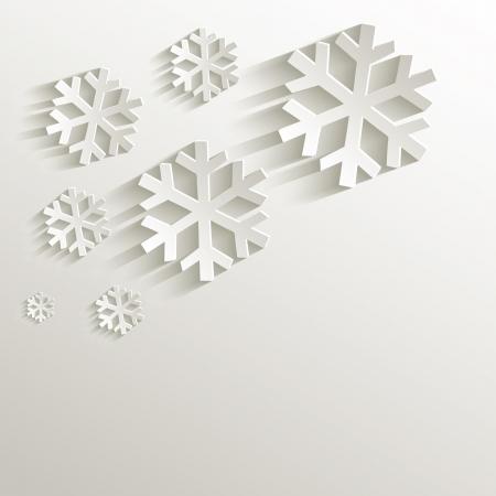 papier naturel: raster No�l flocon de neige naturelle 3D de papier