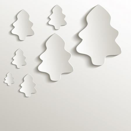 papier naturel: arbre de No�l naturel raster 3D de papier