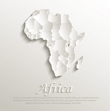 Africa political natural map paper 3D individual states puzzle Vector