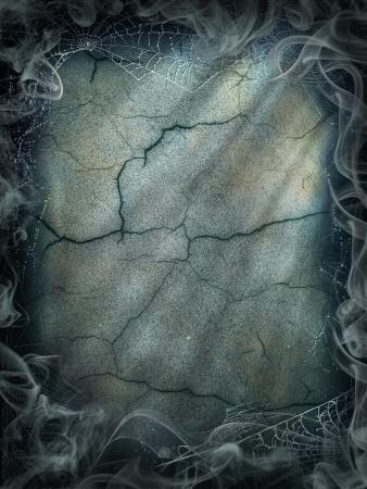Halloween magie rook achtergrond magische donkere spinnenweb Stockfoto