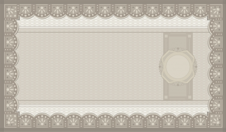 raster Voucher coupon paper blank template photo