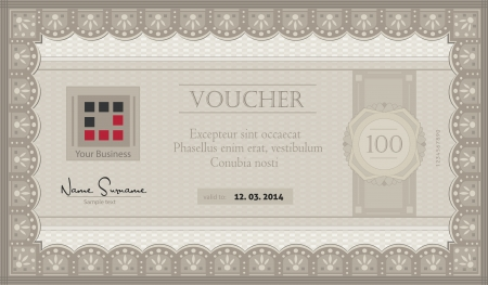 Voucher coupon paper template Vector