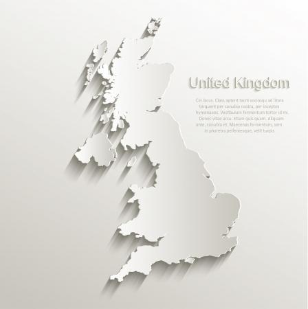 Heel Groot-Brittannië kaartkaart papier 3D natuurlijke vector Stockfoto - 23471414