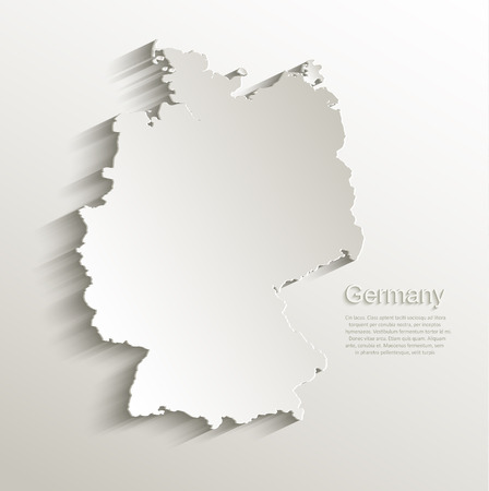 Germany map card paper 3D natural vector Stock Illustratie