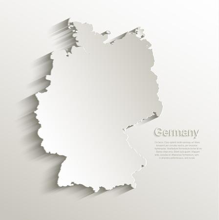 Germany map card paper 3D natural vector Illustration