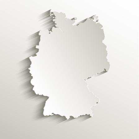 Alemania mapa de la tarjeta de papel 3D raster naturales Foto de archivo - 23471453