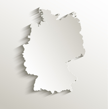 Deutschland-Karte Kartenpapier 3D natürliche Raster Standard-Bild - 23471453