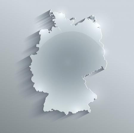carte allemagne: Allemagne carte verre de papier de carte raster 3D