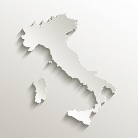 Italia Mappa della carta di carta 3D raster naturale Archivio Fotografico - 24018892