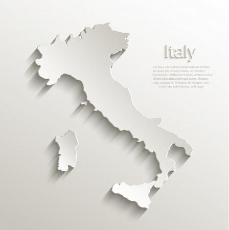 Italië kaart kaart papier 3D natuurlijke vector Stock Illustratie
