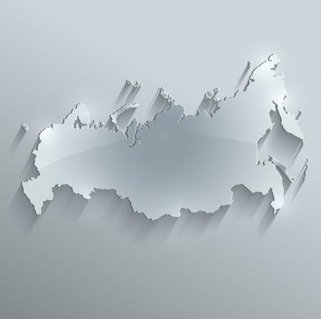 russland karte: Russland-Karte Glas Karte Papier 3D-Raster Lizenzfreie Bilder