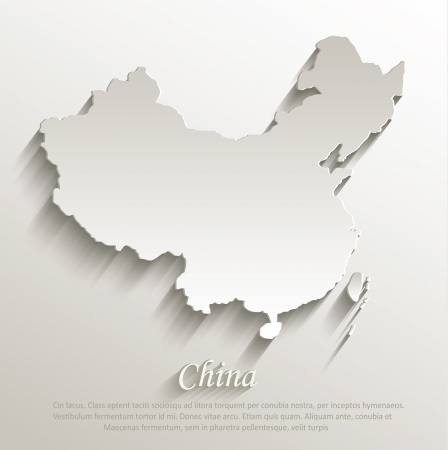 papery: China map card paper 3D natural vector