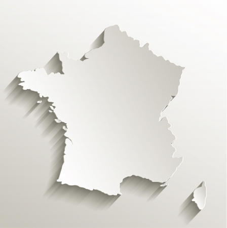 France map card paper 3D natural raster  photo