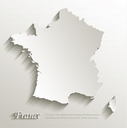 フランス地図カード紙 3 D 自然なベクトル  イラスト・ベクター素材