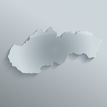 Slovakia map glass card paper 3D raster photo