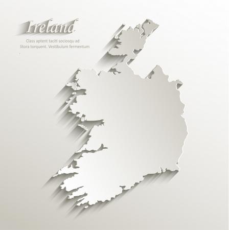 ireland map: Ireland map card paper 3D
