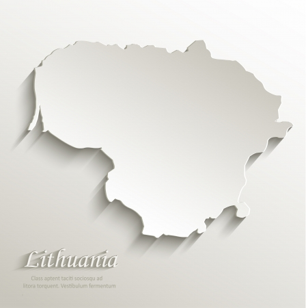 lithuania: Lithuania map card paper 3D