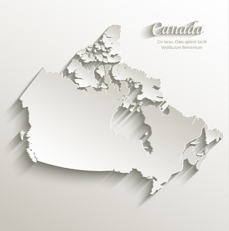 papery: Canada map card paper 3D natural