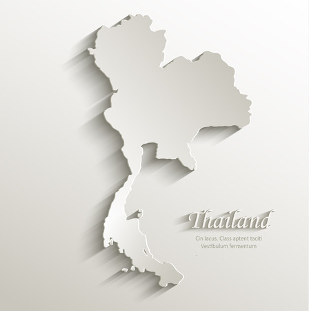thailand map card paper 3D natural