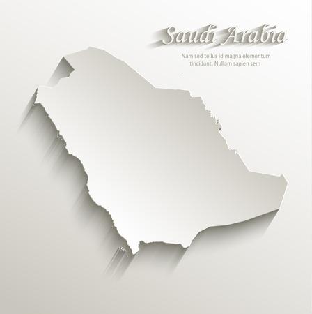 arabia: Saudi Arabia map card paper 3D natural