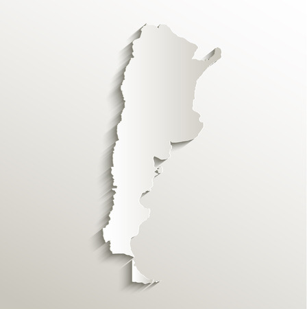 map of argentina: Argentina map card paper 3D natural raster