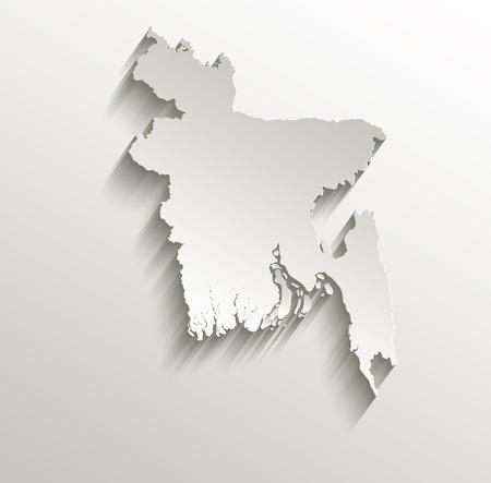 bangladesh 3d: Bangladesh map card paper 3D natural raster