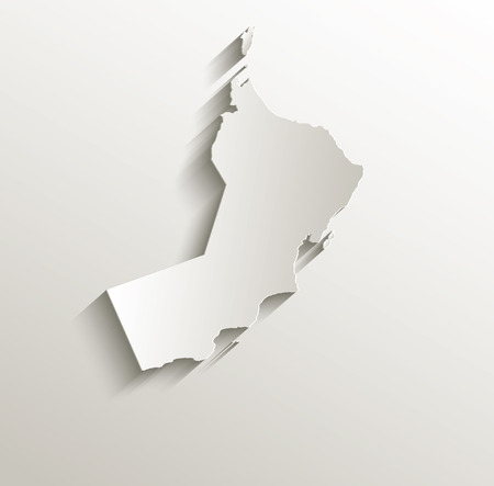 papery: Oman map card paper 3D natural raster