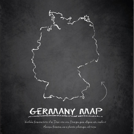 Germany map blackboard chalkboard vector Vector