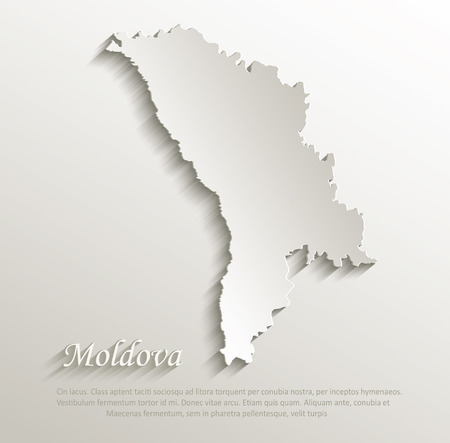 papery: Moldova map card paper 3D