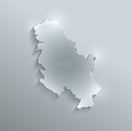 papery: Serbia Arabia map glass card paper 3D raster