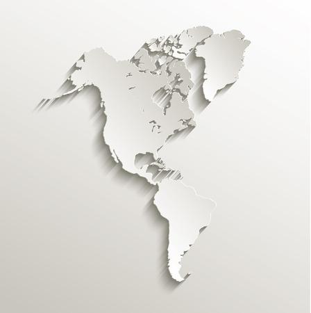 continente americano: América mapa tarjeta continente trama de papel 3D Foto de archivo