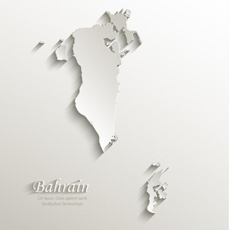 gulf: Bahrain map card paper 3D natural
