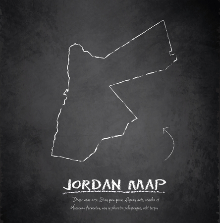 jordanian: Jordanië kaart op blackboard