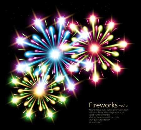 fireworks color stars vector Vector